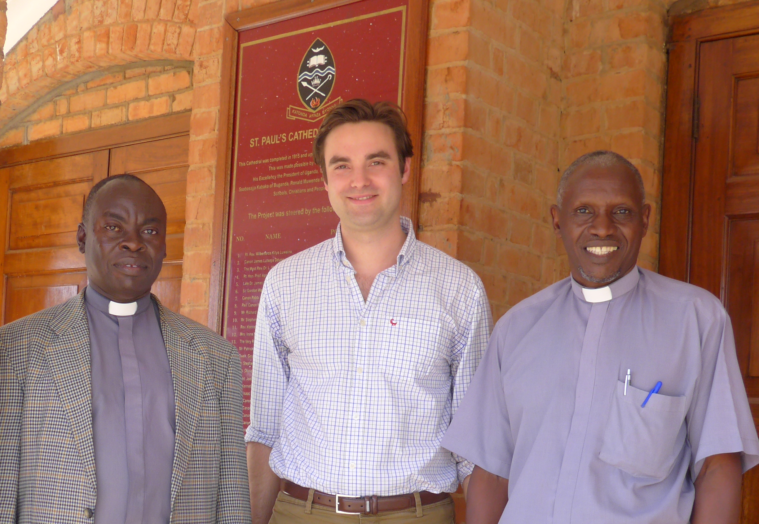 Felix plus 2 priests Namirembe feb 2015